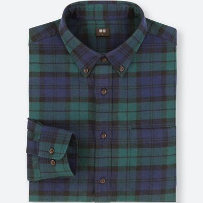Uniqlo checked flannel