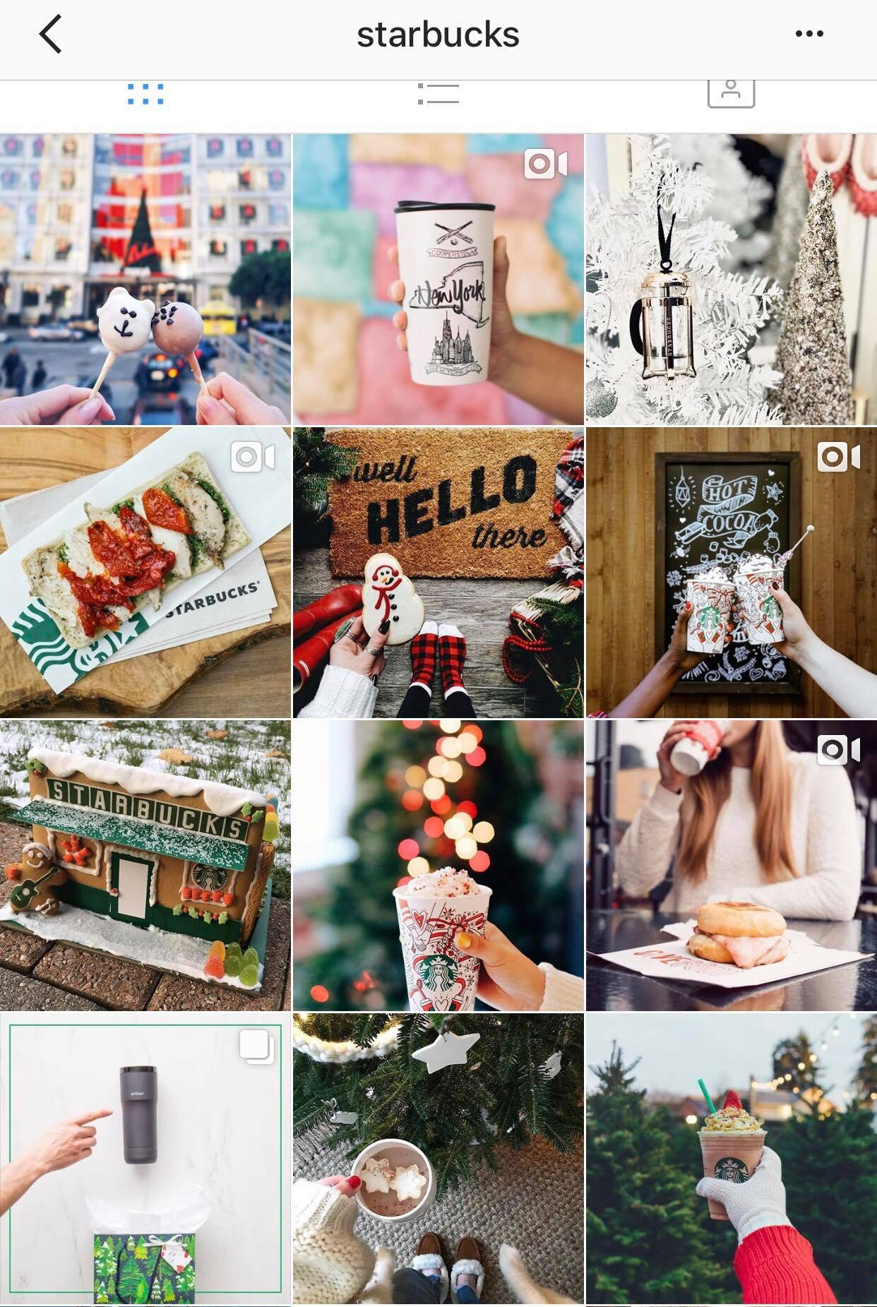 Starbucks Instagram feed Best practices for reposting user-generated content