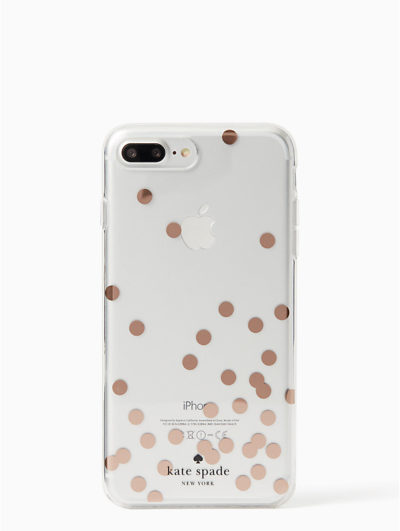 confetti rose gold foil iphone 7 plus case